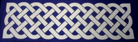 Celtic knot border scrapbook embellishment