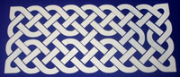 Celtic knotwork scrapbook embellishment
