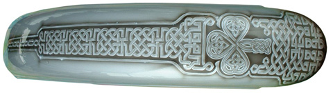 Celtic knots on motorcycle fender