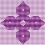 cross stitch knot design