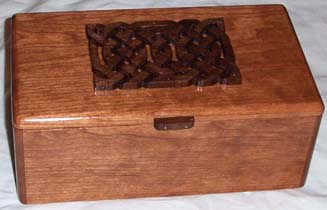Box with inlaid Celtic knot