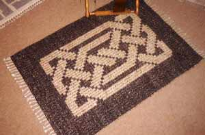Hand woven Celtic knotwork rug