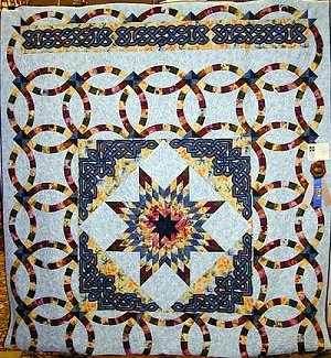Celtic applique quilt bedspread