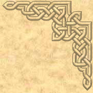 Celtic knot corner design
