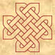 Celtic knot cross Outline
