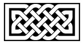 Celtic knotwork rectangle Inverse Style