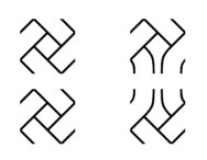 Celtic Knot Font pieces